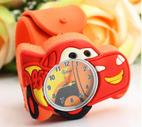 Wholesale Mix Kids Watch - High Quality Silicone Watch 3D Cartoon the Cars Slap Watches Children Kids Free shipping 100pcs mix colors