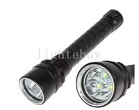 Wholesale u2 led - 6000 Lumen 30W 3X XML U2 L2 LED Diving Flashlight Torch Waterproof 100m Depth Underwater Diver Light