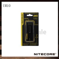 Wholesale Ecigarette Chargers - Nitecore UM10 18650 18490 18350 17670 Battery Charger UM 10 LCD Display Ecigarette Battery Charger 100% Original