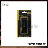Wholesale Ecigarette Lcd - Nitecore UM10 18650 18490 18350 17670 Battery Charger UM 10 LCD Display Ecigarette Battery Charger 100% Original