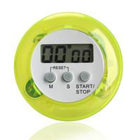 neuheit digitale küche timer großhandel-Neuheit digitale Küchentimer Küchenhelfer Mini Digital LCD Küche Count Down Clip Timer Alarm