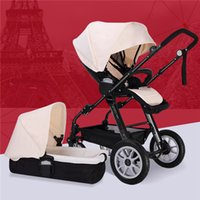 Wholesale Two Way Stroller - High Landscape Can Lift the Baby Stroller Foldable Baby Car Suspension Children Infant Newborn Two-way Stroller Pram Pushchair