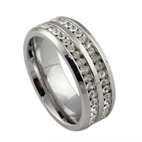 Wholesale China Wholesale Brands Free Shipping - ORSA Luxury Brand Jewelry Titanium Steel Ring for Men Rhinestone Crystal Jewelry Accessories Free Shipping OTR29