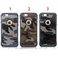 Wholesale Iphone Camo Dhl - FOR iPhone7 7 plus iPhone Cases TPU+PC Amy Camo Luxury Camouflage 2 in 1 Hybird Back Cover For i5 i6 i6plus DHL Free SCA065