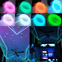 Wholesale Blue Glow Strip - Retail Selling LED Strips seven color 3M neon el wire light Flexible Neon Light Glow EL Wire Rope Car Party water resistant FG drop shipping