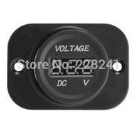 Wholesale Truck Digital Voltage Meter - Wholesale-Car Truck Motorcycle DC Voltmeter Voltage Meter LED Digital Display 4-26V