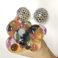 Wholesale Crystal Grape Wholesale - 6.5CM New Cute Anti Stress Face Reliever crystal Grape Ball Autism Mood Squeeze Relief Healthy Toy Funny Gadget Vent Decompression toys B