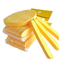Wholesale Pva Bags - 300 bags =3600pcs Face Wash cleaning Makeup Compressed Seaweed Sponge Cosmetic Powder PVA Puff Free shipping via EMS