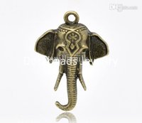 Wholesale Elephant Bronze Tone Charms - Wholesale-hot- 30 Bronze Tone Elephant Charms Pendants 25x18mm (B14825)