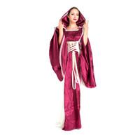 88ce3472f vestidos medievales morados al por mayor-Traje gótico medieval renacentista  púrpura de las mujeres con