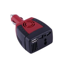 Wholesale Inverter 5v - New 150W Car Power Inverter Charger Adapter 12V DC To 110V AC USB 5V Hot Selling