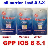 Wholesale Verizon Iphone 4s Unlock - newest Program gpp 4s Unlock card for iPhone 4S L1S3 chip ios 6 ios 7-7.x ios 8 ios8 ios 8.1 GSM 3G R-SIM 9 ATT VERIZON SPRING all carrier