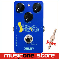 Wholesale Guitar Pedal Caline - Caline CP19 Blue Delay Guitar Effect Pedal Controls the Delay Time from 25ms to 600ms Free connector MU0145