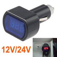 Wholesale Digital Voltmeter Voltage Meter Car - Digital Mini LED 12V 24V Car Vehicle System Voltmeter Voltage Gauge Volt Meter