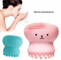 Lovely Cute Animal Small Octopus Shape Silicone Facial Cleaning Brush Deep Pore Cleaning Exfoliator Face Washing Brush