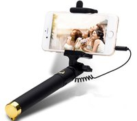 Wholesale Para For Iphone - Universal Luxury mini Selfie Stick Monopod for Iphone samsung Android IOS Wired Palo Selfie Groove Camera Para