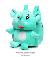 Wholesale Baby Zoo Backpack - Lovely baby cartoon plush zoo backapck school satchel cute little elephant toy bag gifts for kids boys and girls free shipping