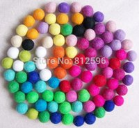Wholesale Crimps For Jewelry - Free Shipping 100pcs 15mm 2015 New Fashion Mixed Color Handmade Yarn Wool Felt Dryer Balls for Rugs Jewelry Beads Christmas DIY