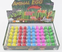 Wholesale Toys Huevo - Novelty gadget Small magic grow dinosaur egg in water toy incubation huevo dinosaurio agua surprise eggs toys kids educational
