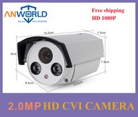 Wholesale Long Distance Ir - Dahua chipset HDCVI camera 1080P 2.0MP hikvision metal bullet case 2 LED infrared night vision long IR distance CCTV store security camera