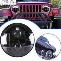 80W 7inch Round Projector H4 High Low Beam LED Headlight с белым DRL для Jeep JK LJ TJ Harley Touring Motorcycle 7
