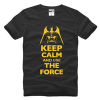 black used t shirts - 2016 New Star Wars Darth Vader t shirt men shirt Keep Calm and awakens Use THE FORCE emoji tshirt homme funny t shirts boy ZA143