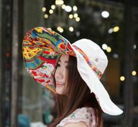 Wholesale Large Wide Visor - free shiping sun hats for women collapsible sun cap beach hat large brimmed sun hats outdoors visors summer cap for women