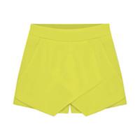 chiffon ol rock großhandel-Großhandels-Tropfen-Art- und Weisefrauen-Kurzschluss-Süßigkeit-Farben-unregelmäßige OL Niedrige Taille Sommer-kurze Mini- Chiffon- kurze Röcke
