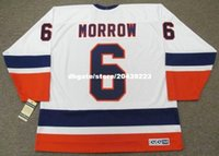 vendita all'ingrosso personalizzato Throwback Mens KEN MORROW New York Islanders 1982 CCM Vintage Home Cheap Retro Hockey Jersey