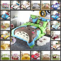 Wholesale Totoro Queen Size Bedding - Wholesale-Neighbor Totoro and a Variety Cartoon 3D Bedding Sets Childre Like 3  4Pcs Twin Full Queen king Size