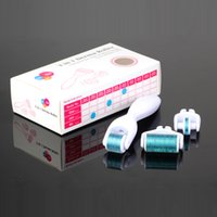 Wholesale Microneedle Therapy Sales - Changeable heads hot sale face microneedle therapy 3 in 1 functions derma roller MicroNeedle Skin Roller for Beauty use