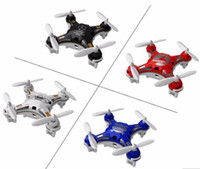 Wholesale Toy Rotor - usable FQ777-124 Mini Drone Micro Pocket 4CH 6Axis Gyro Switchable Controller RC Helicopter Kids Toys VS JJRC H37 H31 Quadcopter