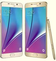 inç notlu cep telefonları toptan satış-Samsung Galaxy Not 5 N920A N920T N920P N920V N920F Octa Çekirdek 4 GB / 32 GB 5.7 Inç 2560x1440 Yenilenmiş Cep Telefonu