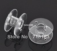 Wholesale Empty Bobbins Spool Tool Clear Plastic for Brother Janome Singer Elna Universal