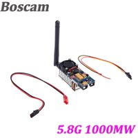 Wholesale Video Transmitter 1w - Boscam 5.8G 8CH 1000MW 1W AV Video Audio Wireless Transmitter Sender for FPV DJI Phantom gopro hero3 TS581000 order<$18no track