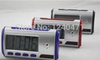 Wholesale Digital Alarm Clock Hidden Camera - 1pcs Spy Hidden Camera Clock HD Newest Digital Alarm Clock Motion Detector Sound Recorder Digital Video PC With Remote Contro