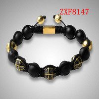 Wholesale Gold Beads For Shamballa - .bracelet for men hand made beads bracelets shamballa bracelet supplier cheap nialaya Earth beads hot and new style bracelets FactoryZXF8147