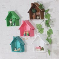 Wholesale Wooden Hanging Rack - Diy Wooden Decor Garden Home House Storage Case Holder Box Wall Hanging Decorative Storage Box Flower Pot House Storage Racks
