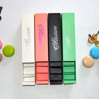 Wholesale Package For Cupcakes - 20.5*5.4*5.3cm Macaron Paper Package Boxes For Bakery Small Cupcake Snack Candy Chocolate Christmas Gifts 20Pcs  Lot Macaron Box