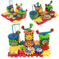 Wholesale Wooden Gears - New Hot Toy Creative Gear Toys Electronic Building Diy 3d Puzzle Building Toys Learning Education Toys Brinquedos 81 Parts