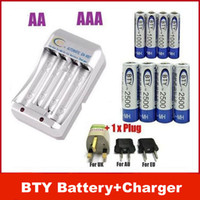 Wholesale Nimh Rechargeable Recharge Battery - NEW 4+ 4 4x 1.2V AA 2500mAh 4x 1000mAh NiMH Ni-MH Rechargeable Recharge Battery + Charger