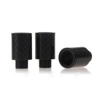 ingrosso migliore vendita rda-Punte di gocciolamento 510 in fibra di carbonio a punta larga a caldo con ugello o-ringless per ego 510 RDA RBA meccanico migliore atomizzatore vaporizzatore mod