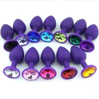 Wholesale Mens Toys For Anal Sex - Extreme Anal Jewelry Brinquedos Toy Jelly Anal Butt Plug Sex Mens Gay Purpl Anal Plug Silicone Butt Beads Sex Toys for Men