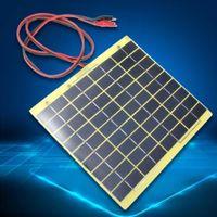 batería de energía solar 12v al por mayor-2017 Nuevo 220x200mm 12V 5W Panel Solar Fit Batería de Coche Truco Cargador Mochila Poder APE