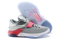 Wholesale Kevin Durant Shoes Colors - 2015 new cheap KD VII shoes kd 7 All star basketball shoes for mens basketball shoes kevin durant basketball trainer size eu 40-46 33 colors
