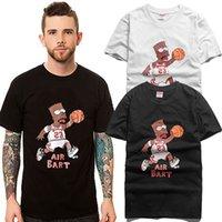 Wholesale Simpson Flash - 2015 Men's summer cartoon summer short-sleeved T-shirt Simpson basketball T shirt lovers men and women hiphop