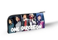 Wholesale One Direction Pens - 1509 2014 New Design One Direction Children School Pencil Bags Cool Back to School Gifts for Boys 1D Kids Pencil Box Girls Pen Holder
