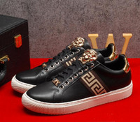 Wholesale Cool Free Images - New Year gift! 2017 new fashion high quality of cool shoes brand designer leather lace-up casual flats image color free shipping