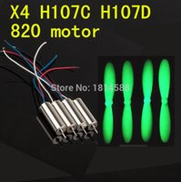 Wholesale Hollow Cup Motor - 4pcs propeller Hubsan X4 H107C H107D H108 H108C FY310B 4PCS motor 8*20 hollow cup motor Quadcopter Spare Parts Motor 8x20mm