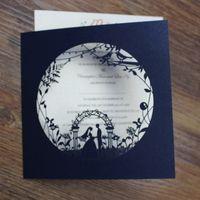 Wholesale Print Custom Cards - Wedding ceremony engagement invitation card elegant navy blue wedding party decor custom printing dinner invite cards